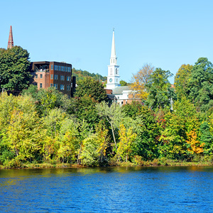 Brattleboro, Vermont view of river