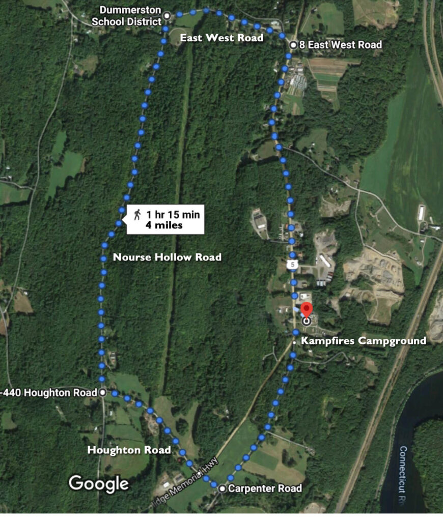 4 miler route map